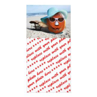 Halloween At The Beach Card