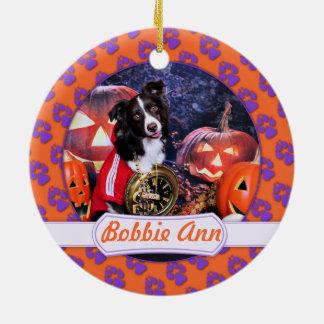 Halloween - Aussie - Bobbie Ann Round Ceramic Decoration