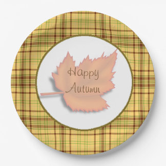 Halloween  Autumn Fall  Leaf Party paper Plates