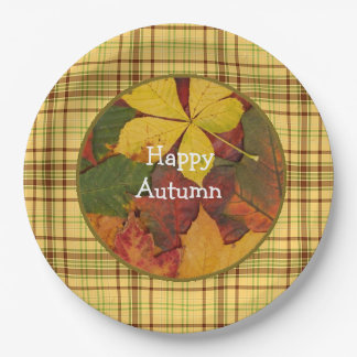 Halloween  Autumn Fall  Leaves Party paper Plates