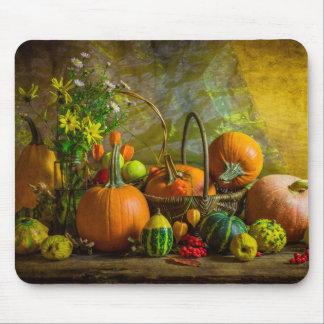 Halloween Autumn Fall Pumpkin Setting Table Mouse Mat