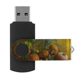 Halloween Autumn Fall Pumpkin Setting Table USB Flash Drive