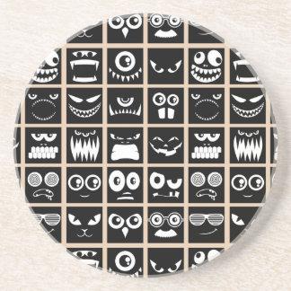 Halloween Avatars - Black Drink Coasters