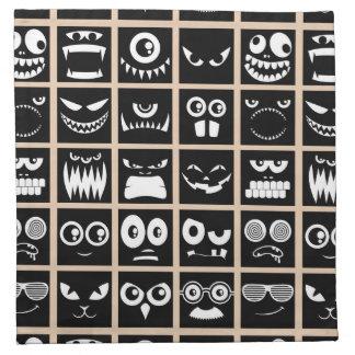 Halloween Avatars - Black Napkin