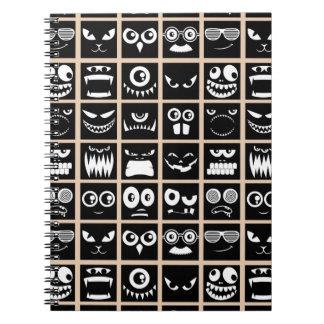 Halloween Avatars - Black Spiral Notebook