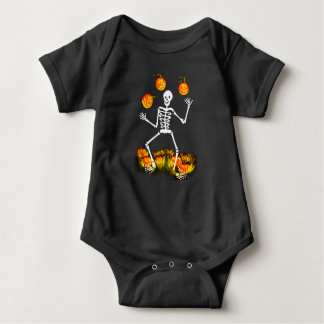 Halloween baby one suit with skeleton baby bodysuit