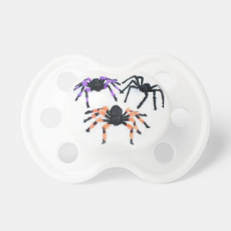 Halloween Baby Pacifier with Spiders