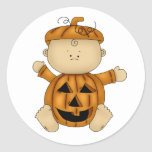 Halloween baby pumpkin stickers
