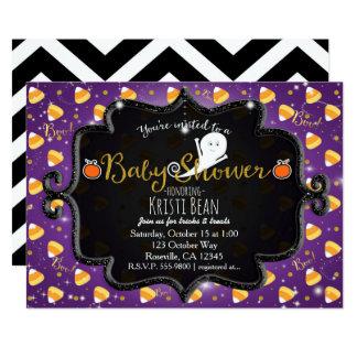 HALLOWEEN BABY SHOWER Candy Corn Ghost Invitation
