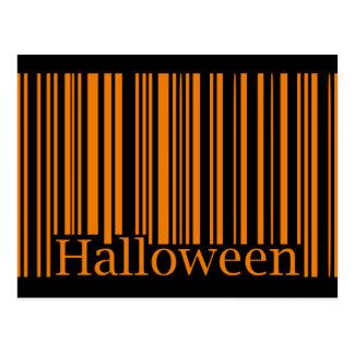Halloween Barcode Postcard