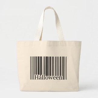 Halloween Barcode Canvas Bag