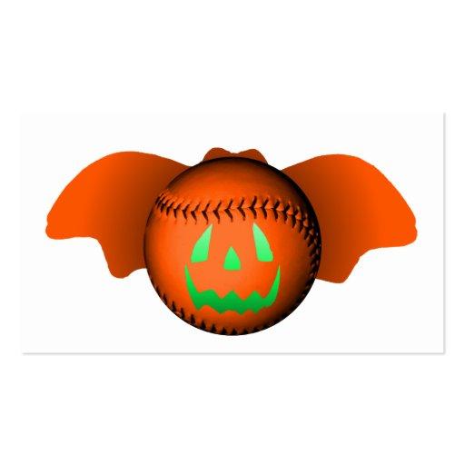 Halloween Baseball Bat Business Card Templates