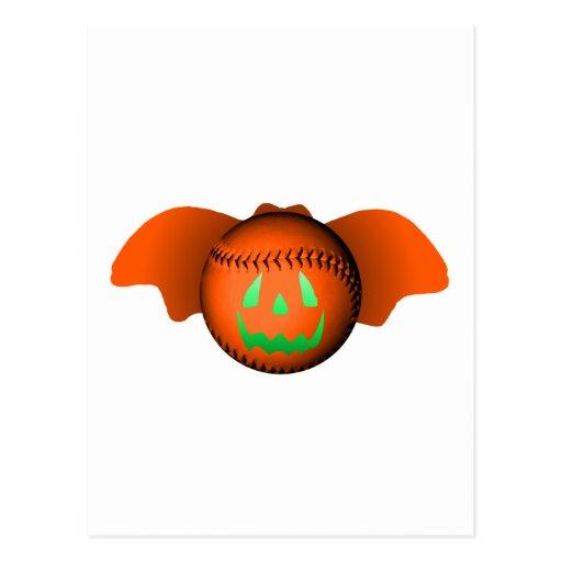 Halloween Baseball Bat Postcard