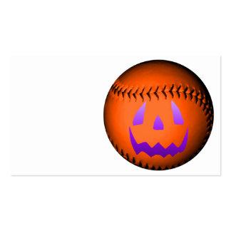 Halloween Baseball Business Card Template