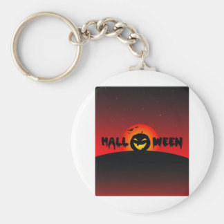 halloween basic round button key ring