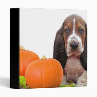 Halloween Basset Hound binder