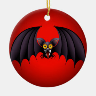 Halloween Bat Cartoon Christmas Ornament