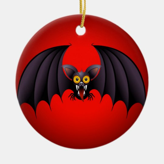Halloween Bat Cartoon Christmas Ornament