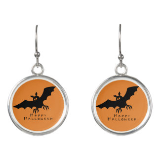 Halloween Bat Earrings by Julie Everhart