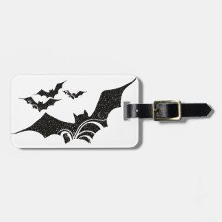Halloween Bat Glitter Texture Design 1 Luggage Tag