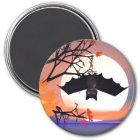 Halloween Bat in Tree Magnet