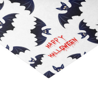 Halloween bat pattern tissue paper