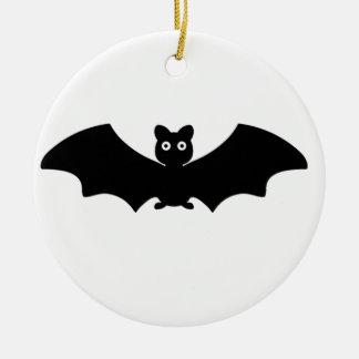 Halloween Bat Round Ceramic Decoration