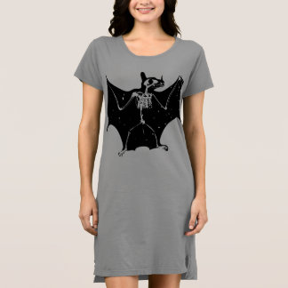Halloween bat skeleton dress