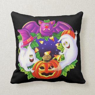 Halloween Bats And Ghosts Cushion