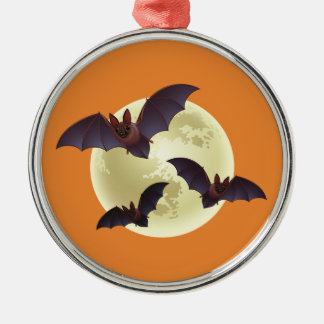 Halloween Bats and Moon Christmas Ornament