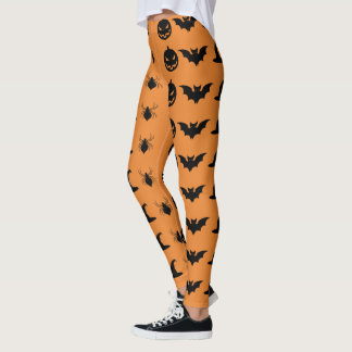 Halloween Bats and Witches Leggings