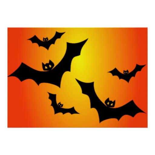 Halloween Bats At Twilight Posters
