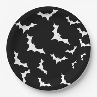 Halloween Bats black paper plates 9 Inch Paper Plate