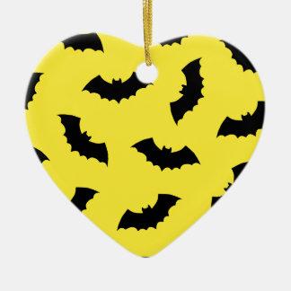 Halloween Bats Ceramic Heart Decoration
