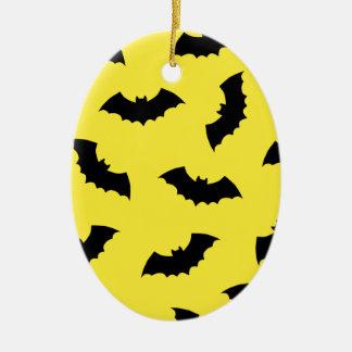 Halloween Bats Ceramic Oval Decoration