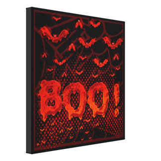 Halloween bats from Hell Stretched Canvas Print