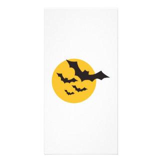 Halloween Bats moon Photo Card