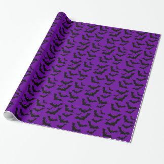 Halloween bats pattern gift wrap