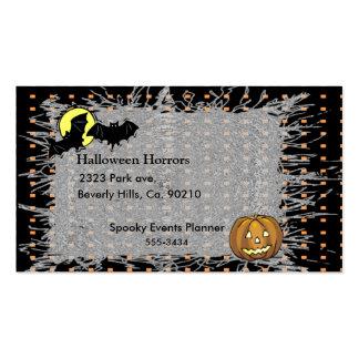 Halloween Bats & Pumpkin Moon Business Card