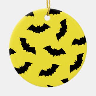 Halloween Bats Round Ceramic Decoration
