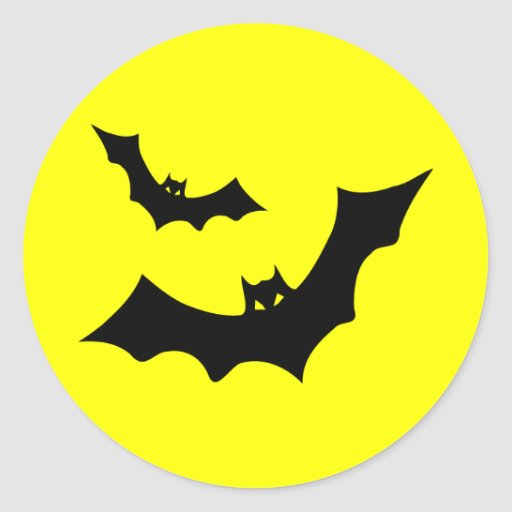 Halloween Bats Stickers