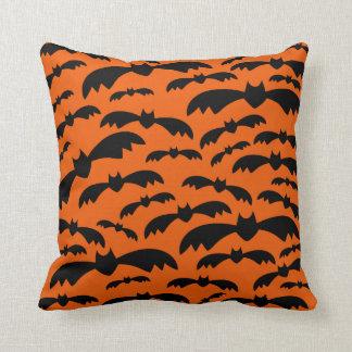 Halloween Bats Throw Pillow