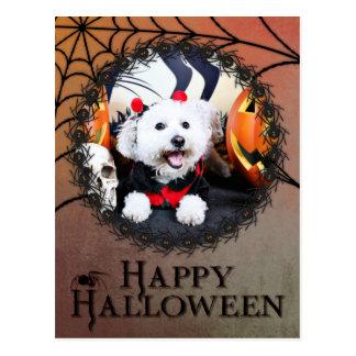 Halloween - Bichon Frise - Andi Post Card