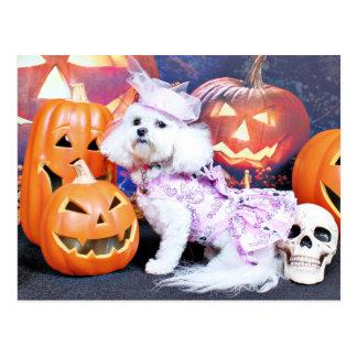 Halloween - Bichon Frise - Mia Postcard
