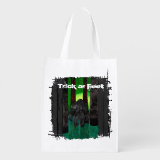 Halloween Bigfoot Grocery Bag