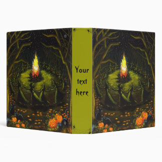 Halloween binder for recipes, spells and photos