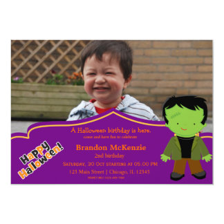 Halloween birthday costume card