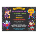 Halloween Birthday Invitation, costume party, kids 13 Cm X 18 Cm Invitation Card
