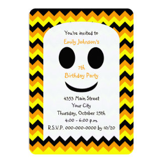 Halloween Birthday Invitation Ghost