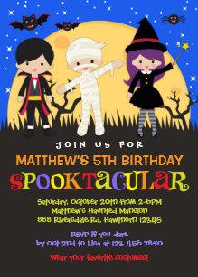 halloween invitations announcements zazzle uk